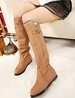Women's Shoes N/A Round Toe/Closed Toe Boots Outdoor/Dress/Casual Brown/Khaki
