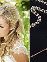 Naiset Metalliseos Päähine-Erikoistilaisuus / Syyperäinen / Ulkoilma Otsakoru / Hair Clip / Hiuspinni 1 Kappale Valkoinen Epäsäännöllinen