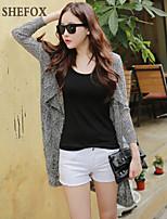 Women's Casual/Work Stretchy Medium Long Sleeve Cardigan (Knitwear) SF7B08