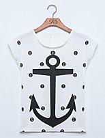 Women's Casual Inelastic Sleeveless Regular T-shirt (Cotton Blends)