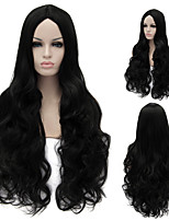 European And American High-Quality High-Temperature Wire Black Curly Hair Wig Fashion Girl Necessary
