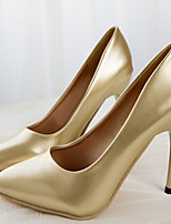 Women's Shoes Faux Leather Stiletto Heel Heels Pumps/Heels Office & Career/Dress Silver/Gold
