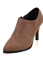 Women's Shoes Stiletto Heel Fashion Boots Boots Casual Black/Brown/Red