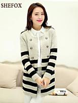 Women's Casual/Work Stretchy Medium Long Sleeve Cardigan (Knitwear) SF7B59