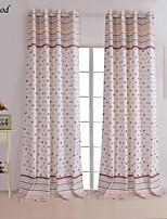 (One Panel)Modern Printing Dot Room Darkening Curtain