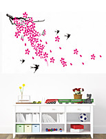 Wall Stickers Wall Decals Style Flower Fly Swallow PVC Wall Stickers