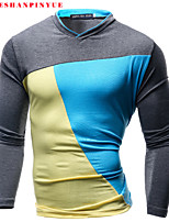 2015 T Shirts Man Long sleeve T-shirt leisure