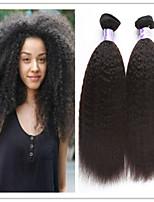 3Pcs/Lot Brazilian Kinky Straight Virgin Hair Weft Weaving Virgin Brazilian kinky straight Hair Extension No Shedding