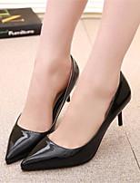 Women's Shoes Stiletto Heel Pointed Toe Pumps/Heels Dress Black/Purple/Gray/Beige