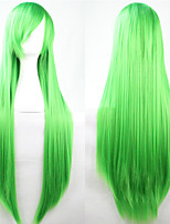 New Anime Cosplay Green Long Straight Hair Wig 80CM