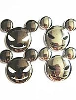 Metal 3D Devil Head Car Stickers