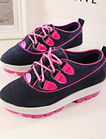 Scarpe Donna - Sneakers alla moda - Casual - Zeppe / Plateau / A punta - Zeppa - Scamosciato - Giallo / Rosso