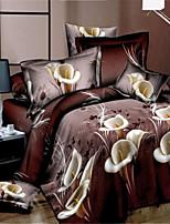 Bettbezug-Sets Braun - Polyester