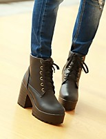 Women's Shoes  Stiletto Heel Round Toe Boots Office & Career/Casual Black/Green/Burgundy