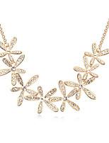 European Style Fashion Smile Blossoming Elegant Crystal Necklace