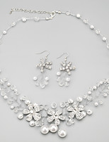 Child's/Women's Alloy/Rhinestone/Imitation Pearl Jewelry Set Imitation Pearl/Rhinestone