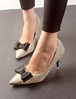Women's Shoes  Kitten Heel Heels Pumps/Heels Casual Black/Silver/Gray