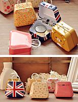 Mini Handbag Tin Bag Coin Jewelry Metal Box Candy Storage Case with Handle (Random Color)