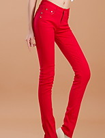 Women's Fashion High Waist Denim Long Pnats Slim Jeans