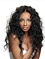 Mongolian Lace Frong Human Hair Wigs Natural Wave Lace Front Wigs  Virgin Hair with Baby Hair for Black Women