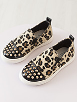 Girls' Shoes Casual Comfort Customized Materials Fashion Sneakers Black/Red/Animal Print