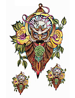 1 pc - Séries animales/Autres - Multicolore - Motif - 21*14.5cm(8.3*5.7in) - Tatouages Autocollants Homme/Femme/Adulte/Adolescent