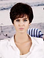 donne sintetico parrucca marrone scuro onda allentata 12 pollici