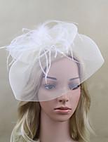 Women Fabric Headband , Party Mesh / Feather Veils Headpiece