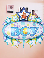 Girl Boy Star with Oval Shape Helium Balloon for Brithday Party (Random Color)