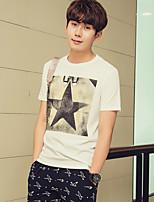 Men's Fashion Casual Printed Short-sleeved T-shirt