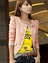 Women's Casual Double Breasted Long Sleeve Short Blazer