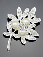Leaves Brooch With Shineing Diamond Clothing Accessories