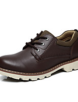 Men's Shoes Casual Leather Oxfords Black/Brown/Blue