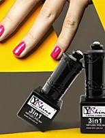 Y-SHINE 2 Pcs Nail Gel Polish Soak Off Uv Gel Nail Polish Y07-Y42(Cherry&Yellow Cream)