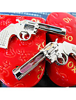 2-Piece Pistol-Shaped Keychains Set with Hourglass (Random Color)
