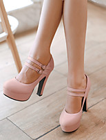 Women's Shoes Stiletto Heel Heels/Platform/Round Toe Pumps/Heels Office & Career/Dress Green/Pink/Purple/Beige