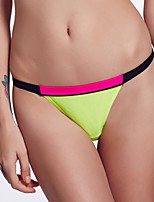 The Fille Women's Mosaic Multi-color /Low Rise/Black/Red/Fluorescent Green Bikini Triangle Panties