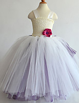 Performance Dresses Children's Performance Polyester Flower(s)/Pleated 1 Piece Light Purple