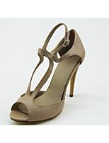 Chaussures Femme - Habillé / Soirée & Evénement - Kaki - Talon Aiguille - Bout Ouvert / Bout Arrondi - Sandales - Similicuir