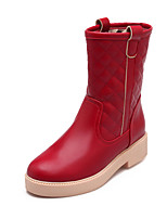 Women's Shoes Chunky Heel Fashion Boots/Round Toe Boots Dress Black/Brown/Pink/Red/Beige
