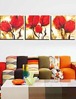VISUAL STAR®3 panel Flower Canvas Painting Stretched Canvas Wall Art Home Goods Decor Ready to Hang