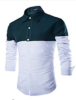 Men's Casual Splicing Long Sleeve Shirts