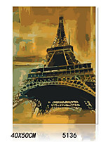 DIY Digital Oil Painting With Solid Wooden Frame Family Fun Painting All By Myself     Eiffel 5136