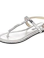 Women's Shoes Flat Heel Open Toe Sandals Casual Silver