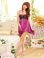 Women Polyester Irregular Sexy Little Fantasies/Sleepwear Gowns White/Purple/Blue