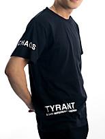 Guilan Men's Short Sleeve Print Pattern Chaos Tyrant T-shirt