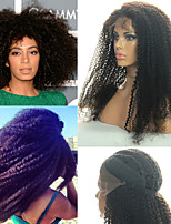 (# 1, # 2, # 4, # couleur 1b) sans colle dentelle pleine de cheveux humains péruvien Perruques vierge péruvienne bouclés afro crépus pour