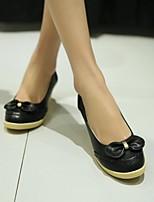 Women's Shoes  Wedge Heel Heels/Round Toe Pumps/Heels Office & Career/Dress/Casual Black/Pink/Purple/Beige