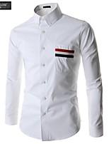 JESUNLOM®Man's Shirt Fashion Long Sleeve Korean Style Top Shirt Young Man  Casual All-Match Under Shirt