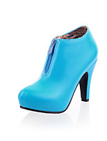 Women's Shoes Cone Heel Platform/Round Toe Boots Office & Career/Dress/Casual Black/Blue/Pink/Beige